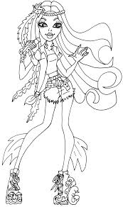 monster robecca steam fly with pets coloring pages monster high