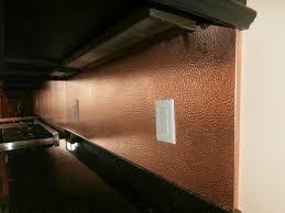 appliances machine hammered copper kitchen backsplash with