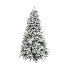 9 pre lit flocked pine multi function led artificial