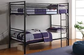 bedroom wonderful black metal full over full bunk bed 7006bk pj