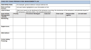 templates of risk management action plan google search diy and