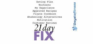 21 day fix guide days to fitness