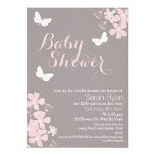 floral butterflies baby shower invitation shower