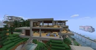 amazing modern home architecture minecraft with modern house