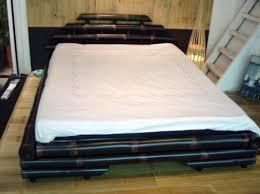 Bamboo Platform Bed Black Bamboo Bedroom Furniture Eva Furniture
