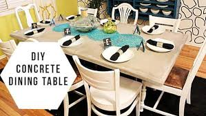 diy concrete dining table diy concrete dining table knock it off the live well network