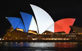 The France Flag Solidarity With France Red White And Blue Buildings Around The World