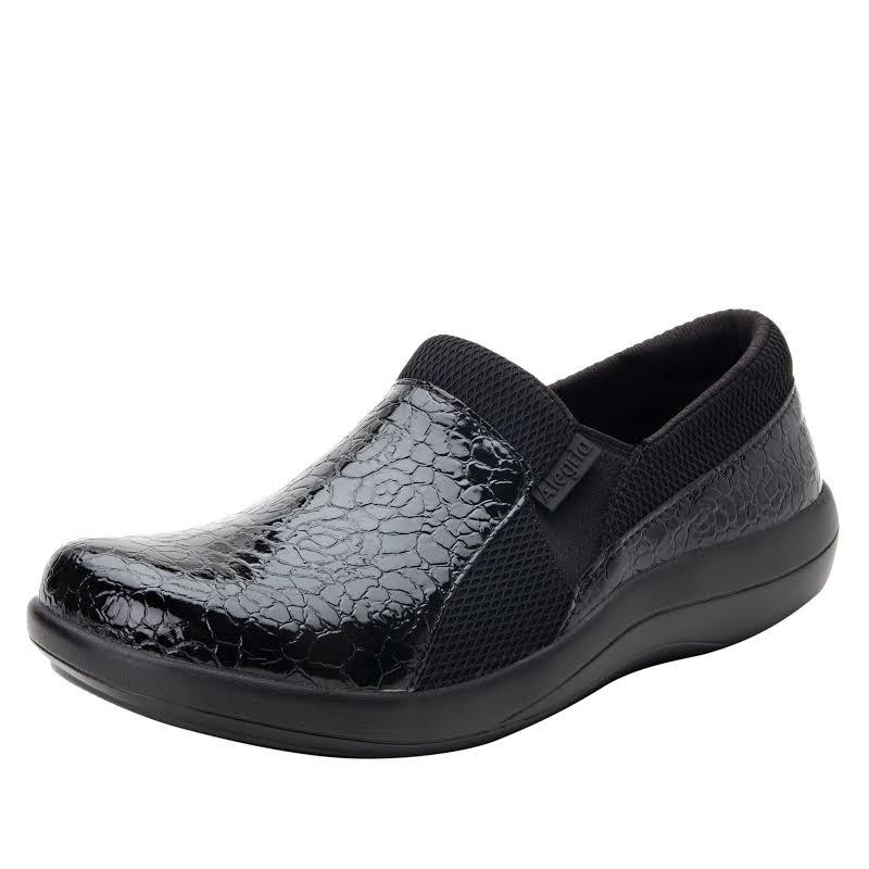 Alegria Duette Slip On Shoe 9 W US in Flourish Black