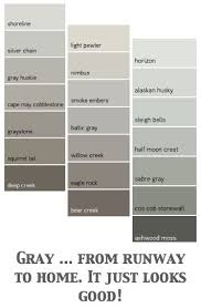 sunny room use a cooler gray like smoke embers dark room use a