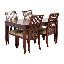 84 off macy u0027s macy u0027s metropolitan dining set with four chairs