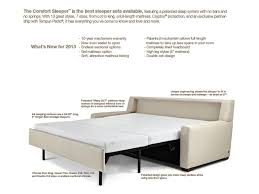 Couch Sizes by American Leather Comfort Sleeper Cassidy Track Arm Queen Plus