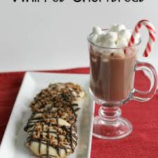 recipes whipped shortbread cookies chocolate drizzle and