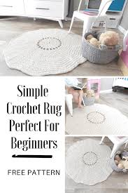 crochet rug patterns free a simple crochet rug pattern that uses the best yarn for rugs