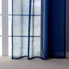 Blue Window Curtains by Yarn Curtains Solid Navy Blue Window Tulle Translucidus Curtains
