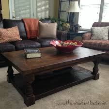 pottery barn inspired coffee table this makes that