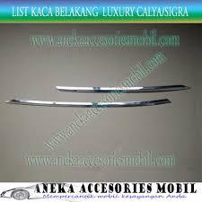 Daihatsu Sigra Trunk Lid Cover Chrome list kaca belakang daihatsu sigra back list daihatsu sigra back
