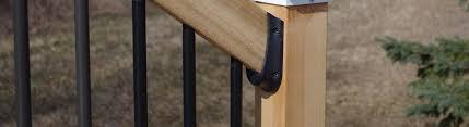 Banister Rail Fixings Deck Stair Rail Brackets U0026 Deck Stair Rail Connectors Decksdirect