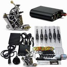 professional 1 set tattoo kit power supply gun color inks complete