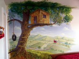 tree house mural tree house wall murals decorating ideas best