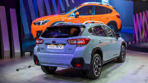blue subaru crosstrek 2018 subaru crosstrek debut from the 2017 geneva motor show