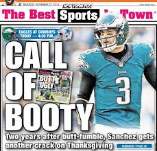 the new york post has a thanksgiving buttfumble joke for