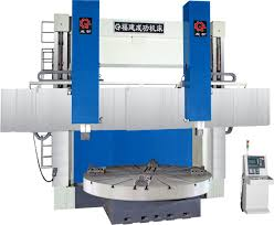 double column cnc vertical lathe machine without full cover design