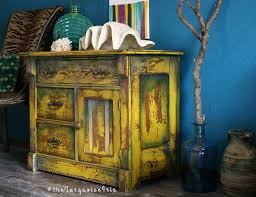 Hand Painted Furniture by The Turquoise Iris Furniture U0026 Art Hand Painted Mustard Yellow