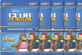 club penguin gift card free club penguin membership 2017