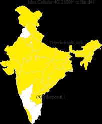 pan india 4g maps of telecom operators across various bands