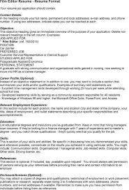 Video Resume Ideas Videographer Editor Cover Letter