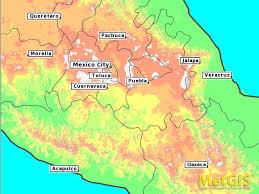 map central mexico central mexico
