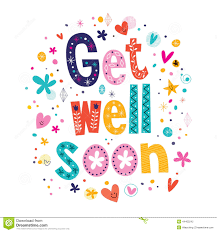 get well soon cards get well soon greeting card stock vector image 44403242