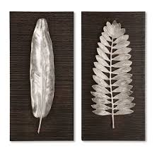 Silver Leaf Bedroom Furniture by Uttermost Silver Leaves Wall Art 04001