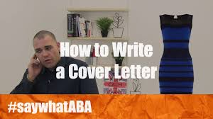 how to write a cover letter aba journal
