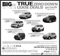 jeep ads 2017 zero down lease deals northtown chrysler jeep dodge tonawanda ny