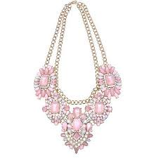 necklace gold pink images Buy light pink gold bling statement necklace in cheap price on jpg
