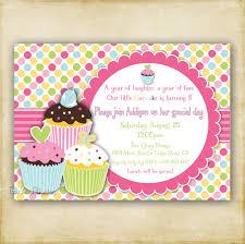 1 Year Invitation Birthday Cards Cupcake Birthday Invitations Plumegiant Com