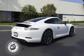 white porsche truck porsche 911 wrapped in 3m satin white car wrap wrap bullys