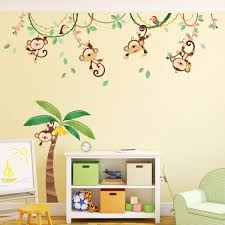 17 peel and stick wall decals for kids disney princess peel stick 1507 monkeys on vine peel and stick nursery kids wall decals stickers