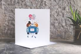 Just Married Cards Hedgehog Wedding Congratulations Card Just Married Wedding