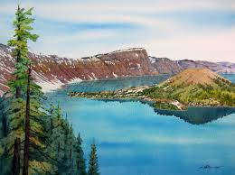 paint places painting wild places with watercolors learn to paint crater lake