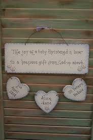Baby Plaques Personalised Christening Gift Wooden Sign Plaque Handmade In