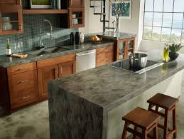 Kitchen Countertop Material by Corian Sorrel Has Earth Tone Swirls With Subtle Silver Metallic