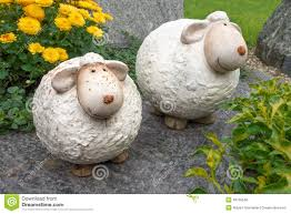 two thick sheep made of ceramic stock photo image 49758548