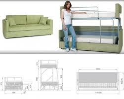 Sofa Bunk Bed Space Saving Sleepers Sofas Convert To Bunk Beds In Seconds