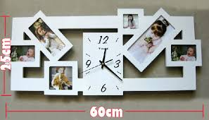 home decor wall clocks 1pcs diy photo frame clock wall clock modern design home decor