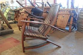 Used Adirondack Chairs Tony Derricotte Of Greenfield Uses Liquor Soaked Wood To Craft