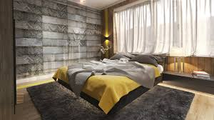 Bedrooms With Yellow Walls Fabric Garland Gray And Yellow Master Bedroom Full Image For