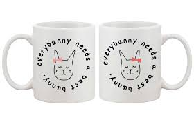 cute bff coffee mugs for best friends every bunny needs a best bunny