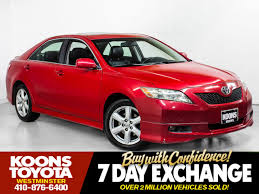 lexus westminster finance used 2007 toyota camry se for sale in westminster md vin